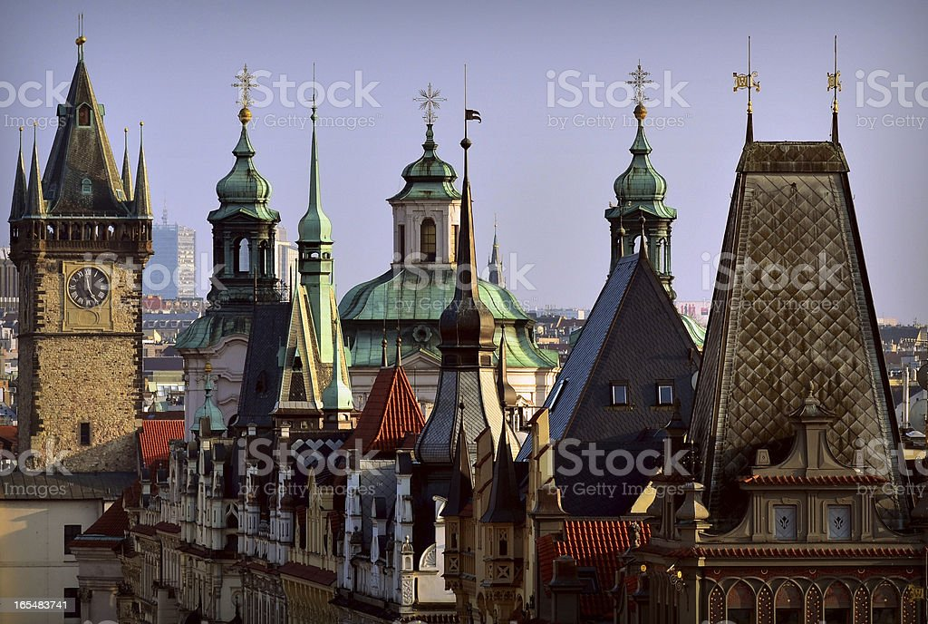 View of Prague roof tops royalty-free stock photo