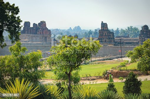 istock View of Prasanna Narasimha Temple in Hampi, India 652281462