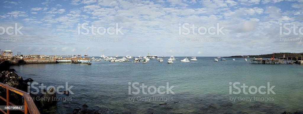 View of Puerto Moreno Harbor royalty-free stock photo