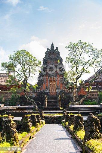 view of Pura Taman Saraswati Temple, front view, Ubud, Bali, Indonesia