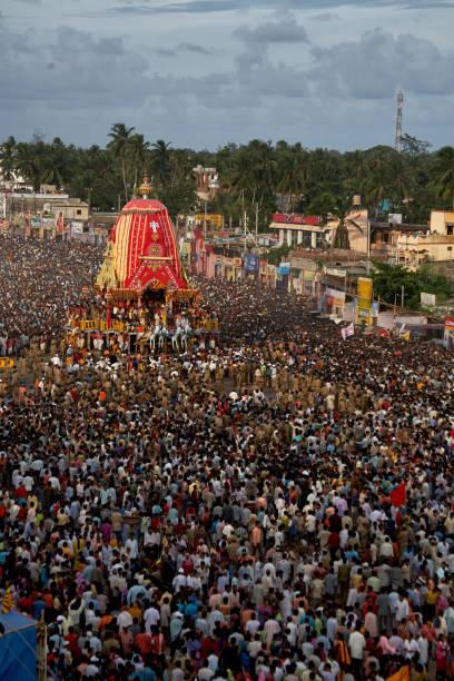 View of Puri Jagannath Rath yatra, cart festiva