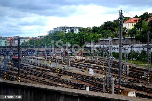 view of railway station, Prague