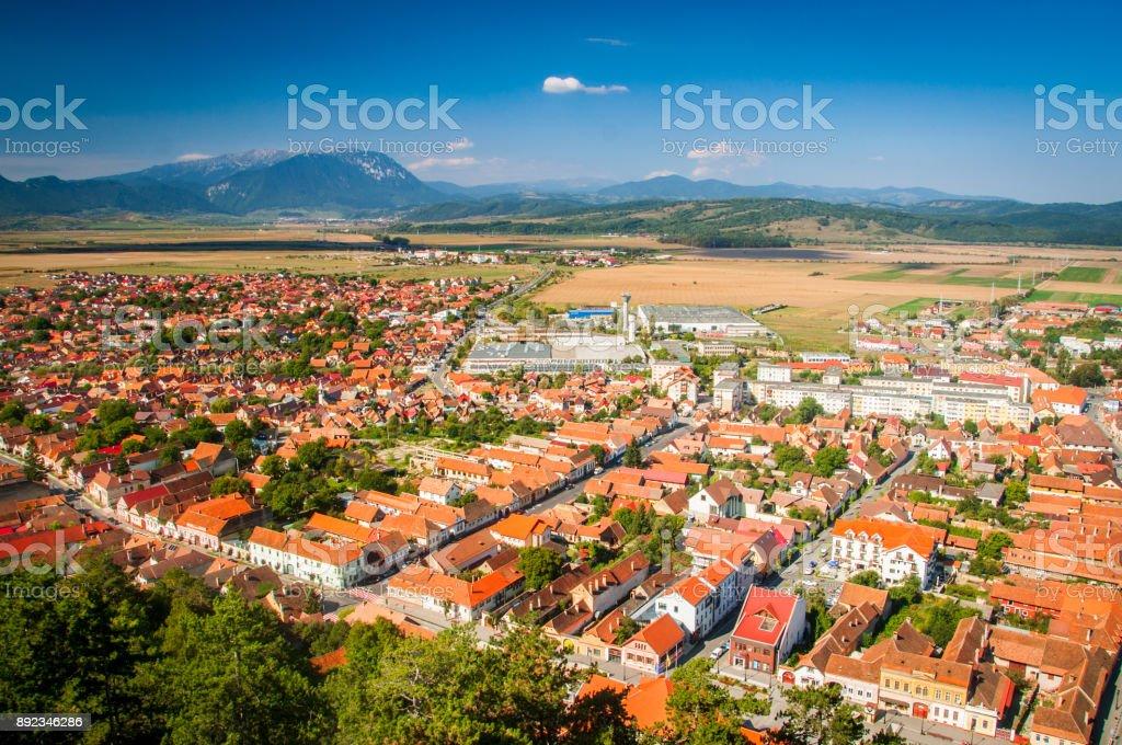 A view of Rasnov city stock photo