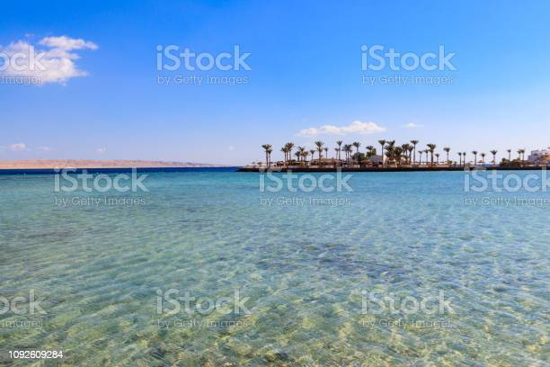 View Of Red Sea Coast On The Beach In Hurghada Egypt Stock Photo Download Image Now Istock