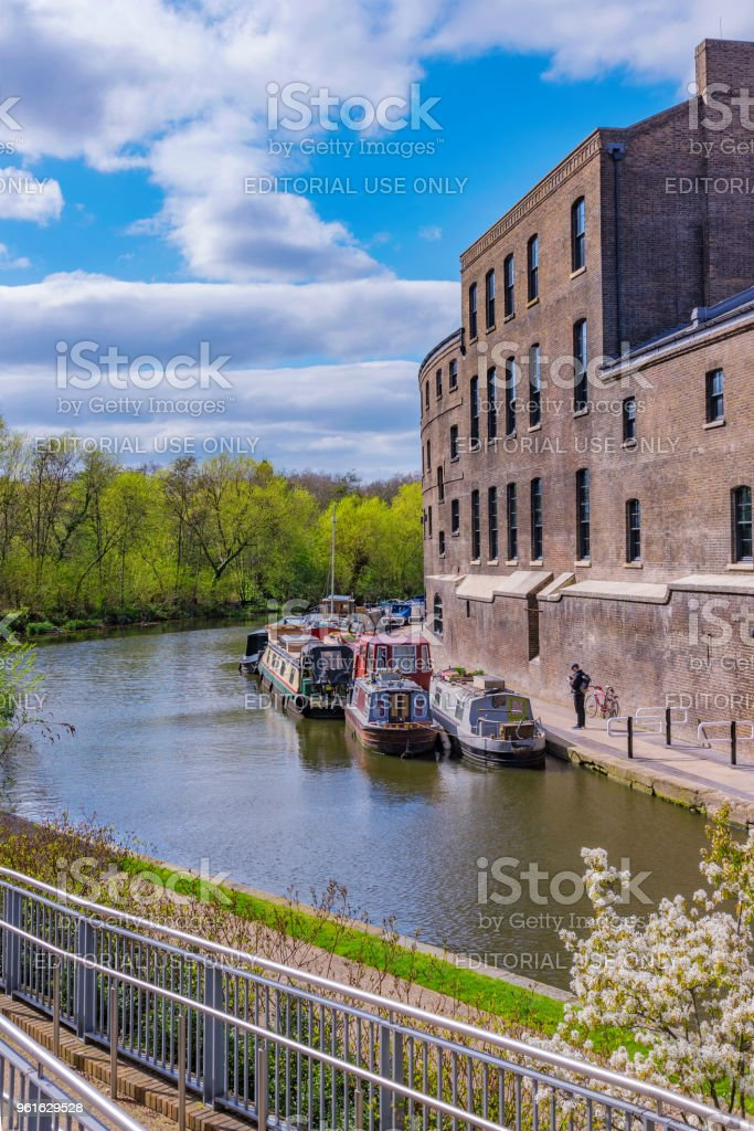 View of Regents Canal stock photo