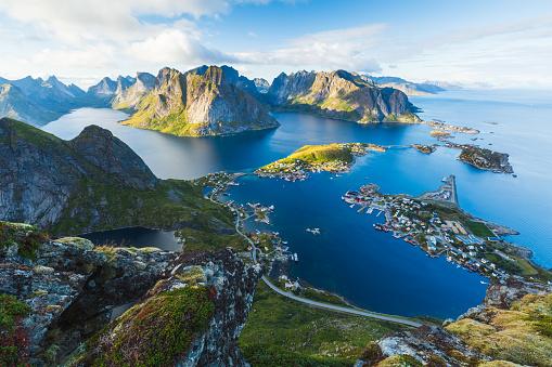 View of Reine in Lofoten, Norway