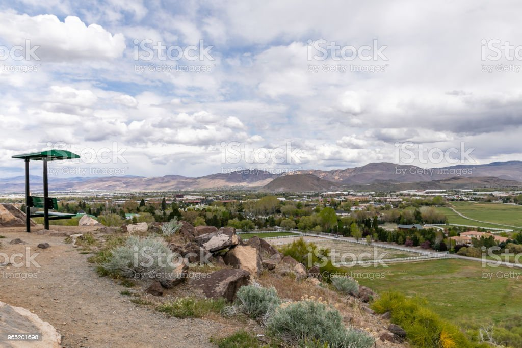 View of Reno, Nevada looking East from a lookout point. zbiór zdjęć royalty-free