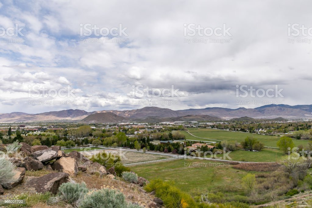 View of Reno, Nevada looking North. zbiór zdjęć royalty-free