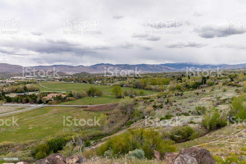 View of Reno, Nevada looking South. zbiór zdjęć royalty-free