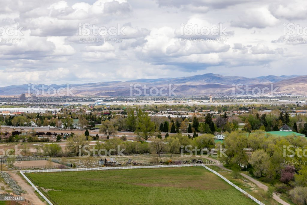 View of Reno, Nevada zbiór zdjęć royalty-free