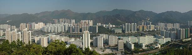 View of Resident Area in Hong Kong  sha tin stock pictures, royalty-free photos & images