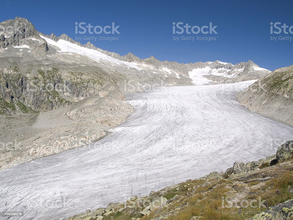 View of Rhone glacier, Switzerland stock photo