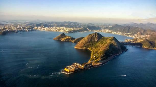 View of Rio de Janeiro from the airplane windows - Rio de Janeiro - Brazil