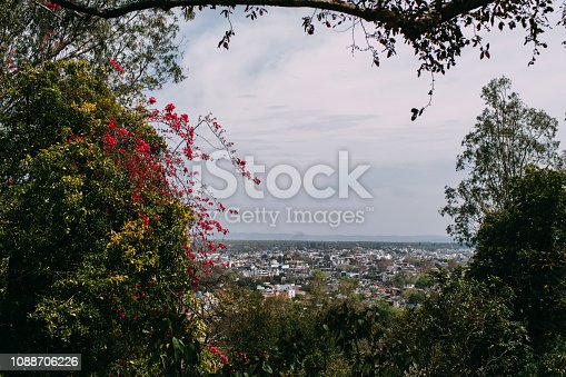 istock view of Rishikesh from Beatles Ashram 1088706226