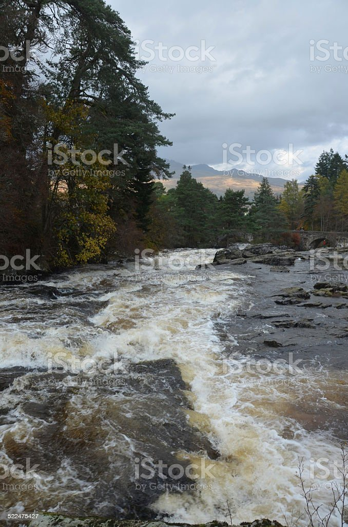 View of River Dochart stock photo