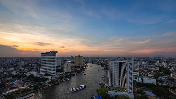 View of river in Bangkok stock photo