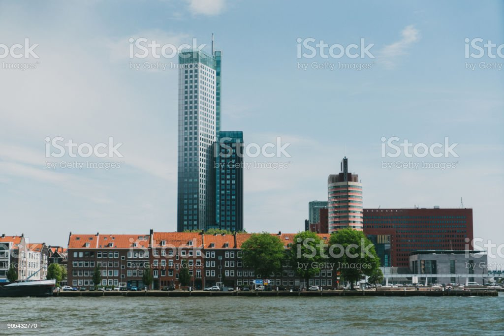 View of river in Rotterdam royalty-free stock photo