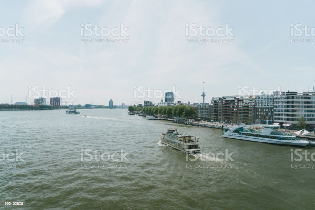 View of river in Rotterdam zbiór zdjęć royalty-free