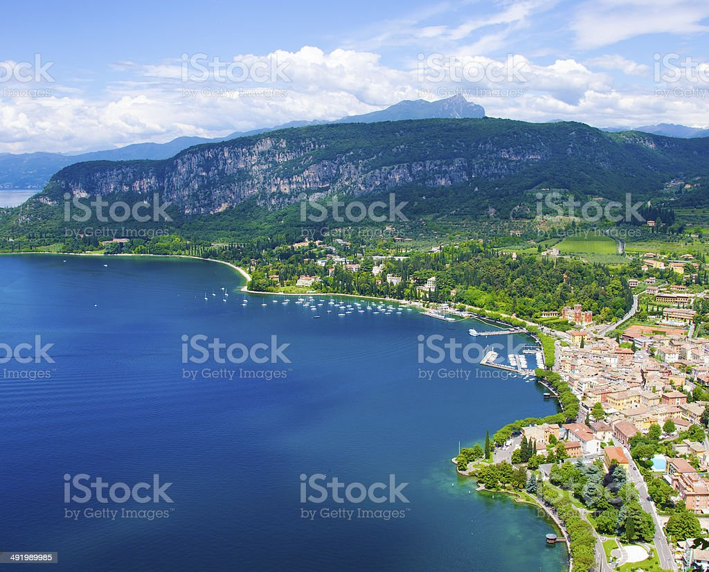 View of Rocca di Garda stock photo