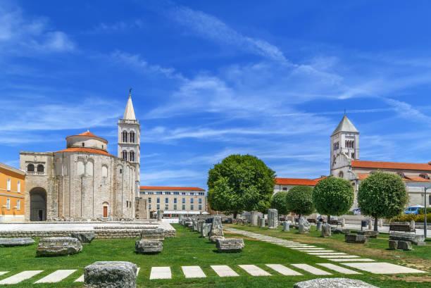 Blick auf das Forum Romanum, Zadar, Kroatien – Foto