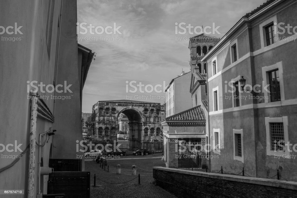 View of Rome, Italy stock photo