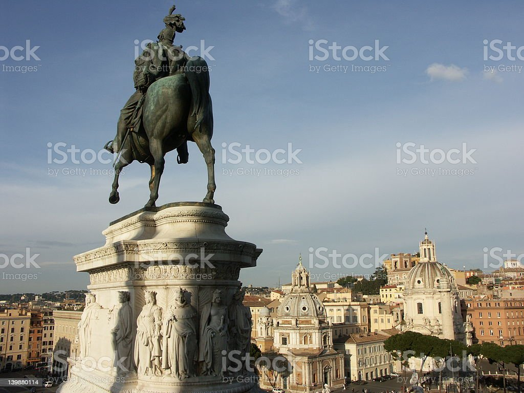 View of Rome royalty-free stock photo