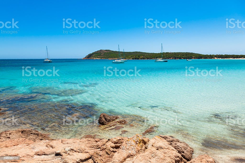 view of Rondinara beach in Corsica Island in France Lizenzfreies stock-foto