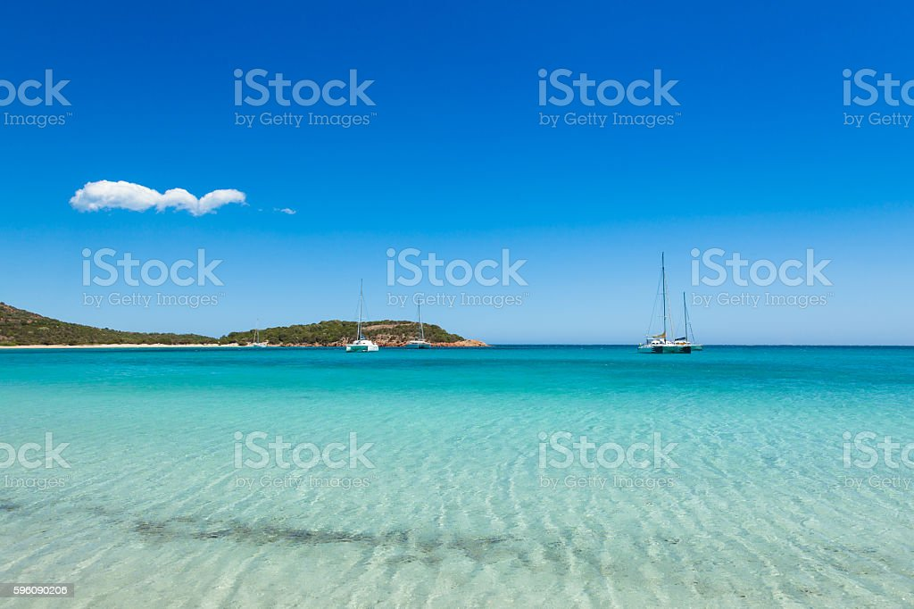 view of Rondinara beach in Corsica Island in France royalty-free stock photo