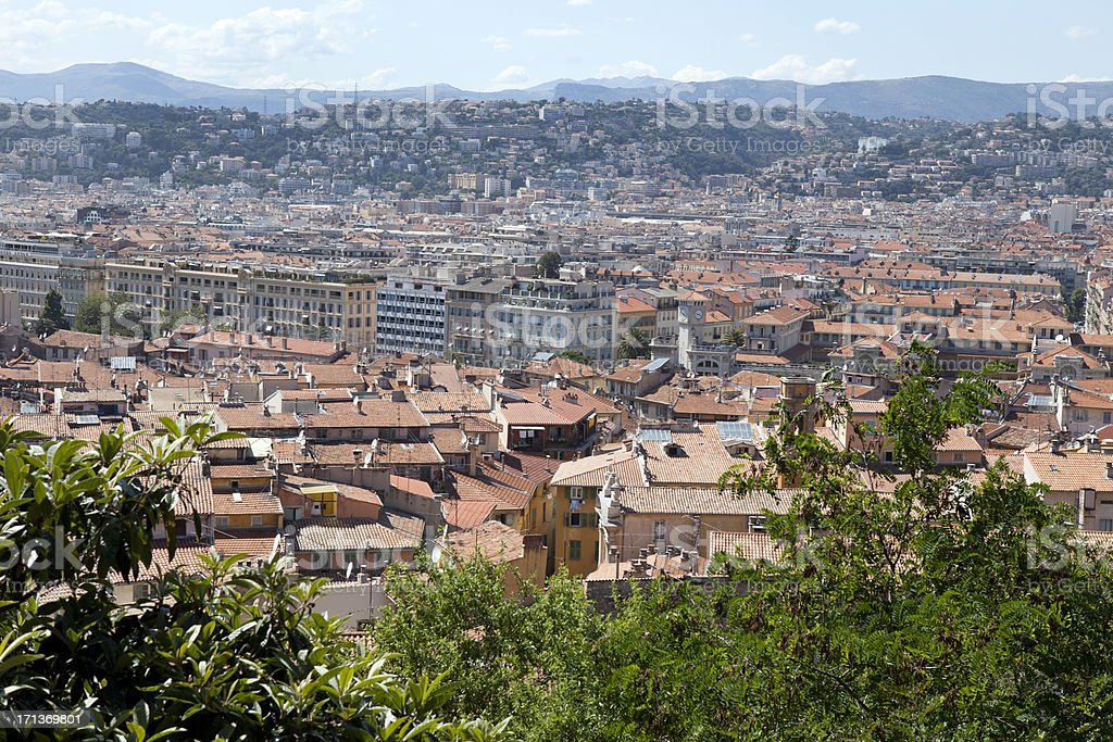 View of Rooftops in Nice France royalty-free stock photo