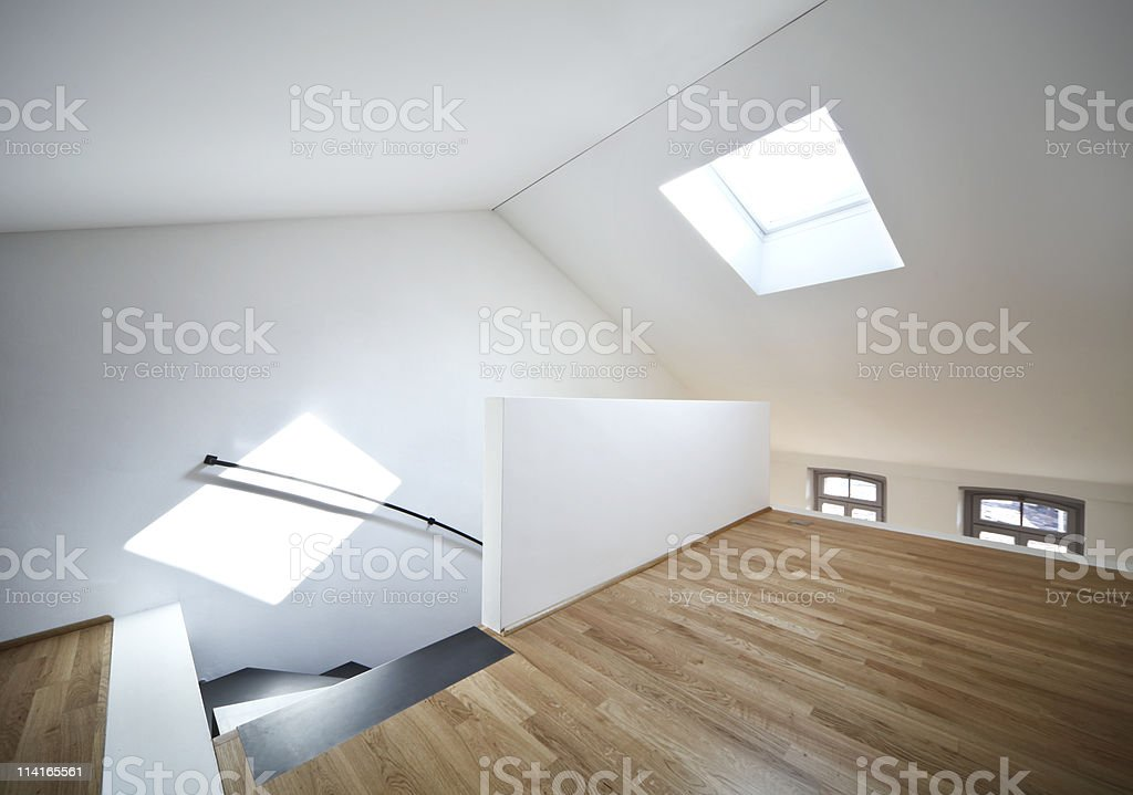 view of room under the roof royalty-free stock photo