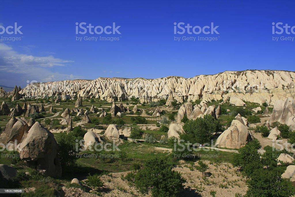 view of Rose Valley, Göreme, Cappadocia, Turkey royalty-free stock photo