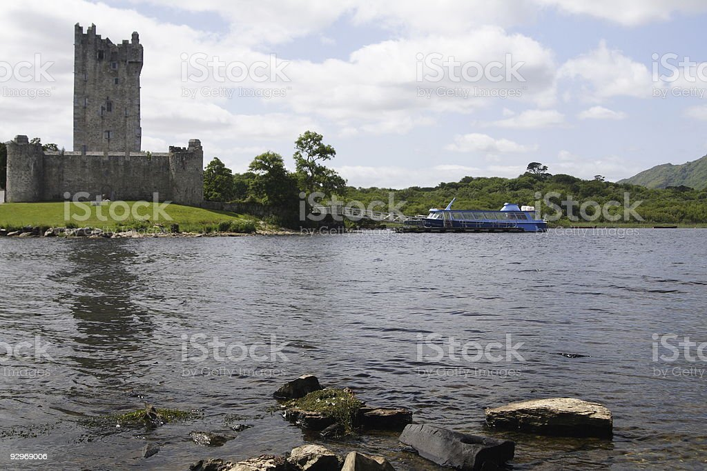View of Ross Castle stock photo
