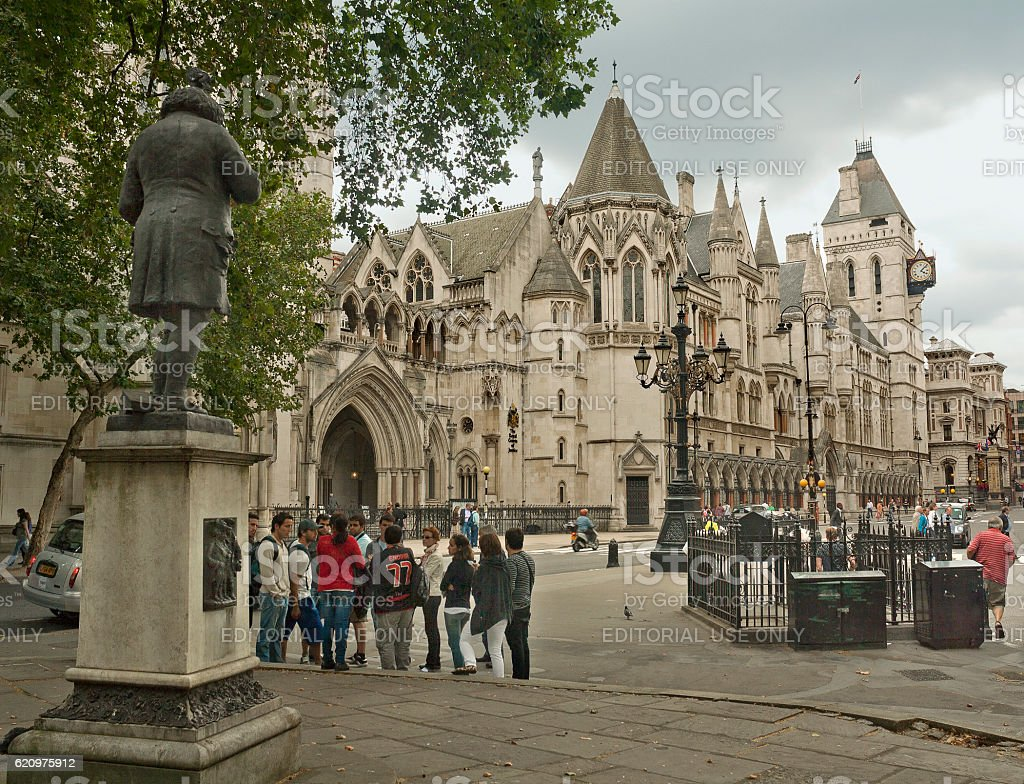 View of Royal Courts of Justice in London, United Kingdom stock photo