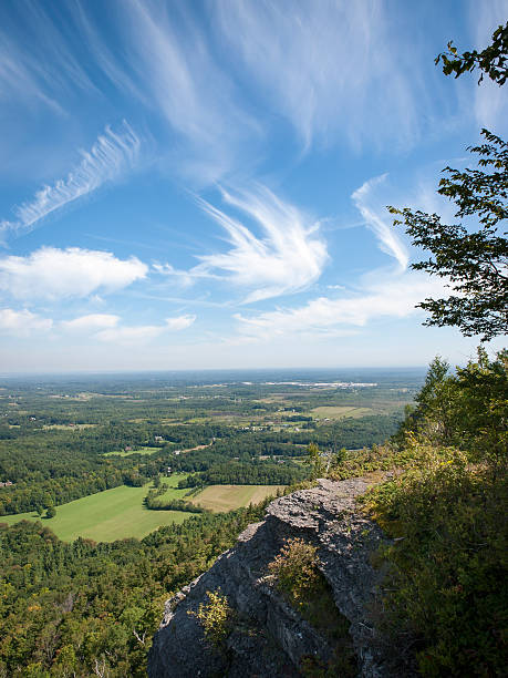 View of Rural Albany County, NY A magnificent aerial view of Albany County, New York from the cliff top at Thacher State Park albany county new york state stock pictures, royalty-free photos & images