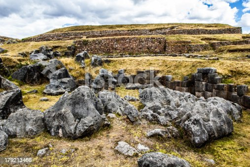 istock View of Sacsayhuaman wall, in Cuzco, Peru. 179213466
