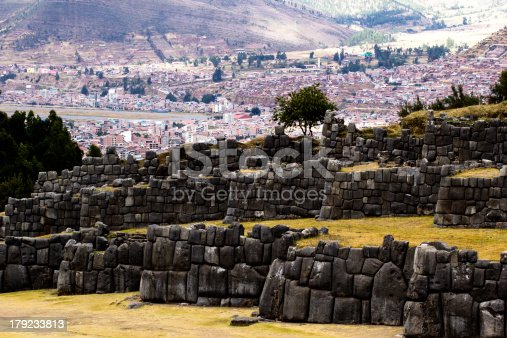 istock View of Sacsayhuaman wall, in Cuzco, Peru. 179233813
