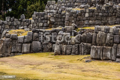 istock View of Sacsayhuaman wall, in Cuzco, Peru. 179236677