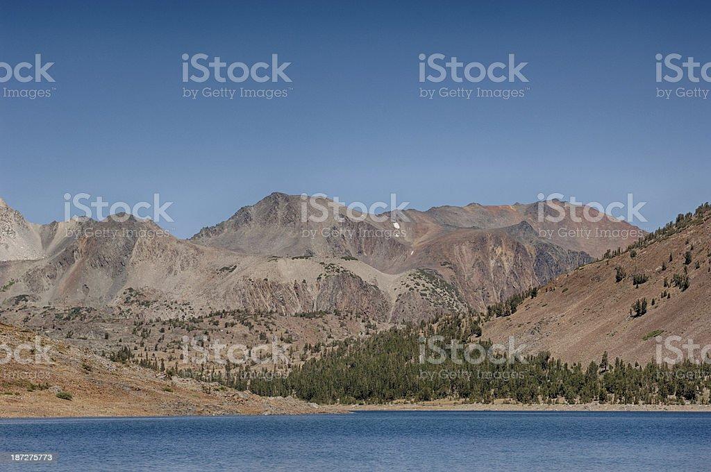 View of Saddleback Lake stock photo