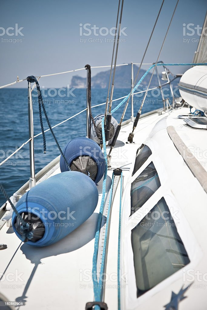 View Of Sailing Boat stock photo