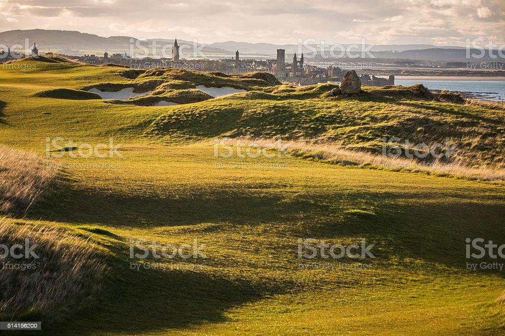 View of Saint Andrews, Fife, Scotland stock photo