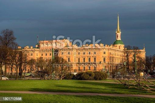 istock View of Saint Michaels Castle in Saint Petersburg. 1301712558