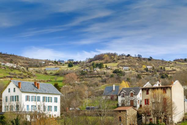 Blick auf das Dorf Saint-Nectaire, Frankreich – Foto