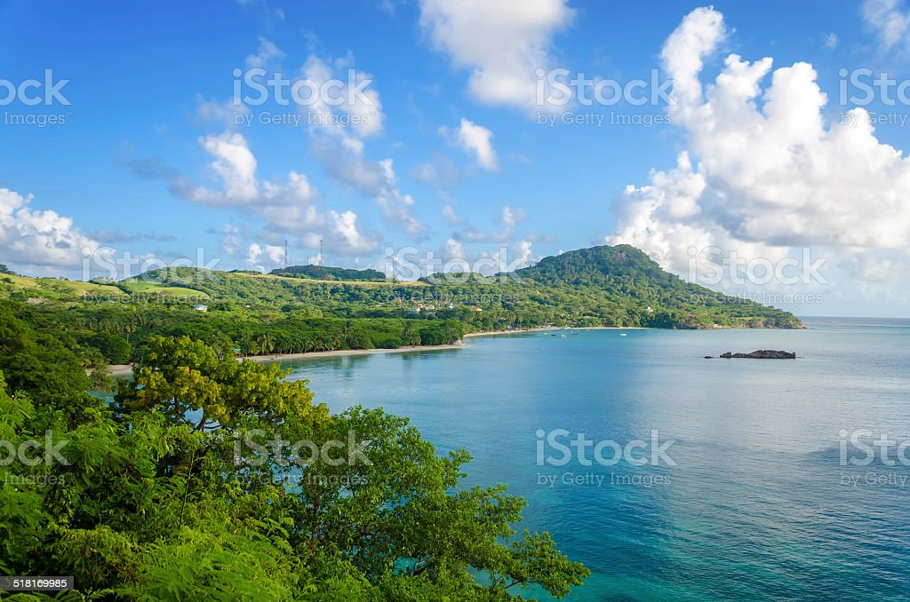 View of San Andres y Providencia stock photo