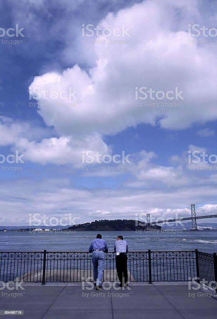 View of San Francisco Bay and Treasure Island royaltyfri bildbanksbilder
