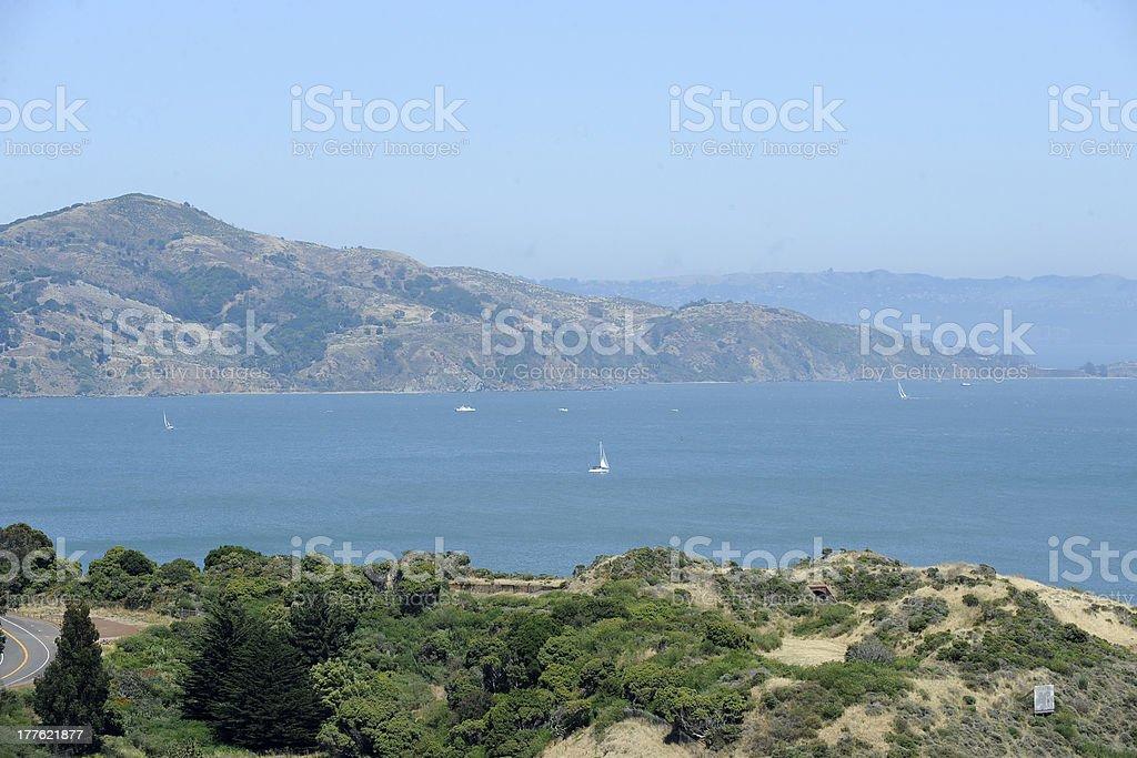 View of San Francisco Bay stock photo
