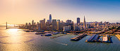 View of San Francisco Skyline from the Bay, California, USA