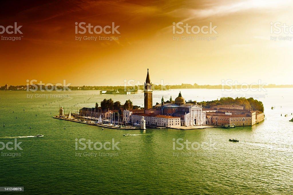 view of San Giorgio island, Venice, Italy royalty-free stock photo