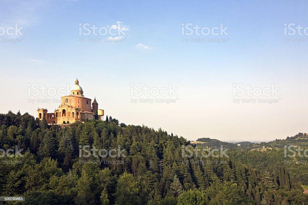 view of san luca - bologna stock photo