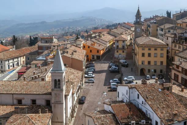 Blick auf San Marino city – Foto