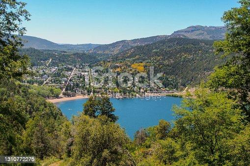 istock view of San Martin de los Andes with Lacar Lake 1310772275